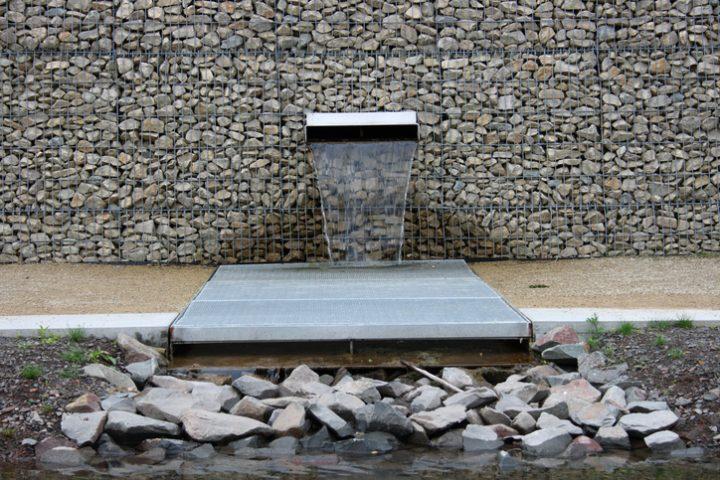 gabionen-brunnen selber bauen » so wird's gemacht, Hause und Garten