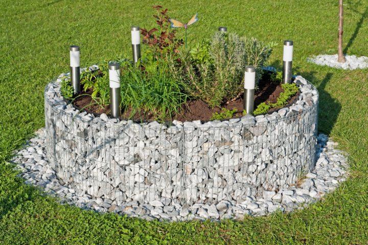 Gabionen im Garten