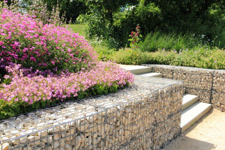 Gabionenwand Stützmauer