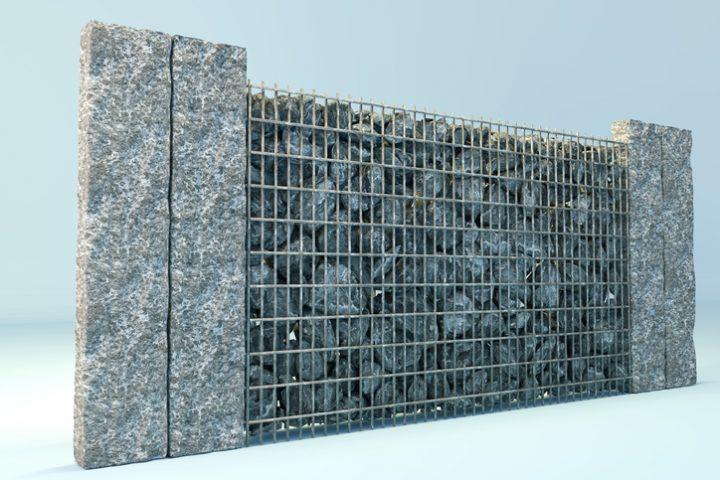 Gabionen mit Beton sichern