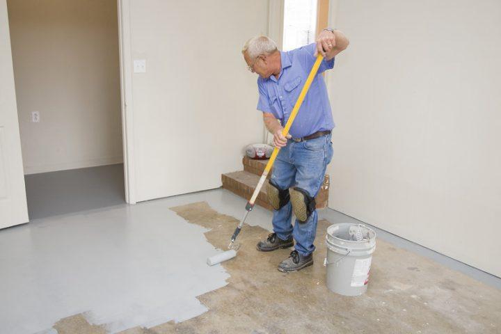 Garagenboden streichen