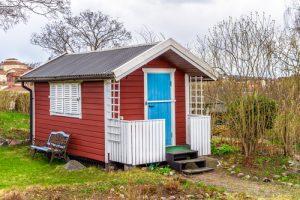 Gartenhaus skandinavisch streichen