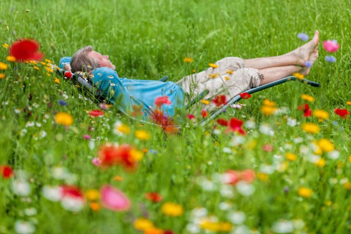 Gartenstuhl neu beziehen