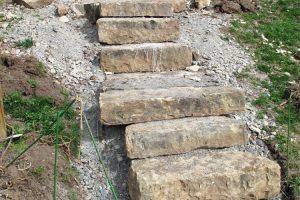 Gartentreppe selber bauen