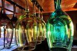 Gläser hängen