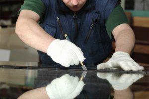 Glasschneider benutzen