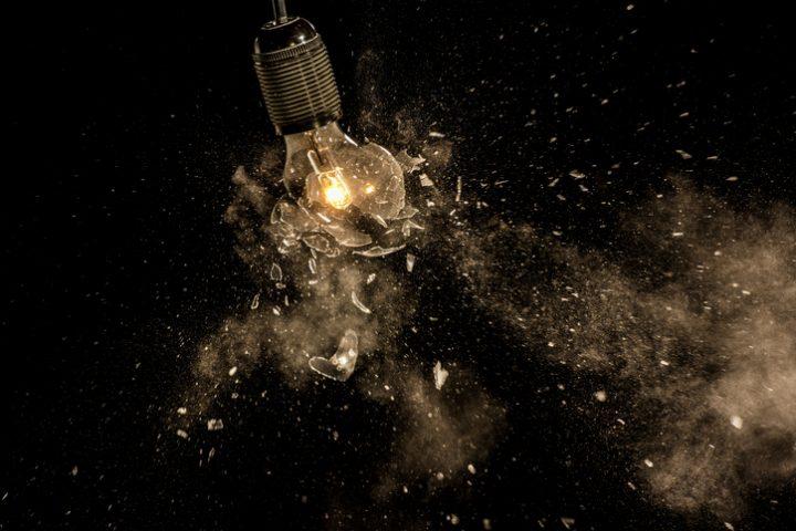Glühbirne Explosion