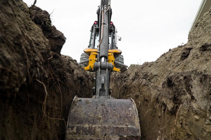 Graben Ausheben