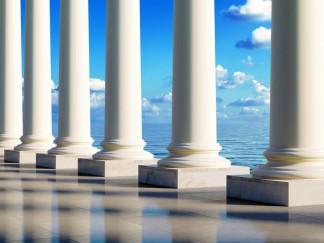 Granitsäulen in runder Form haben einen sehr hohen Preis