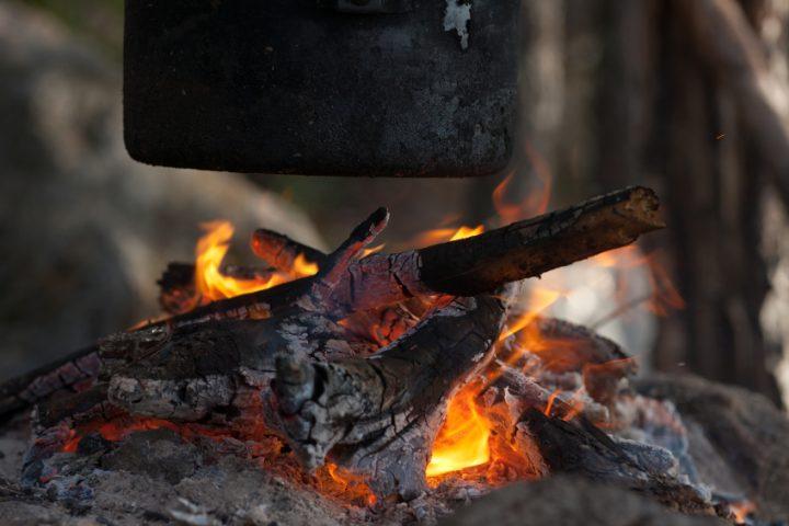 Eisenpfanne eingebrannt