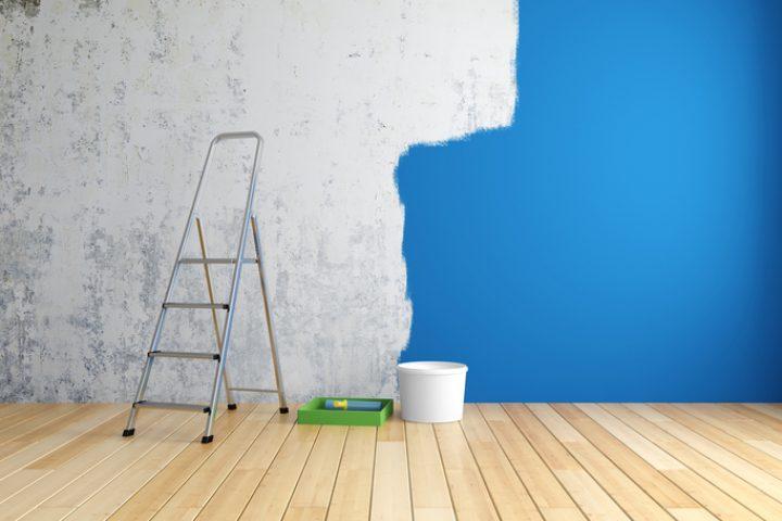 Wandfarbe mit hoher Deckkraft