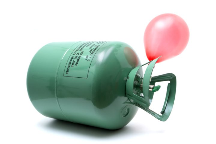 Heliumflasche Müll