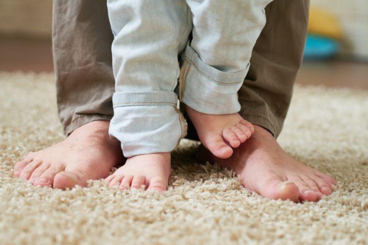 Hochflor-Teppich aufrichten