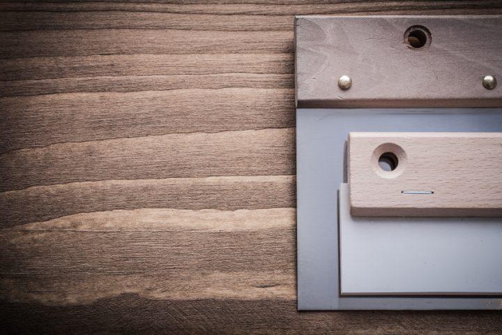 Holz spachteln