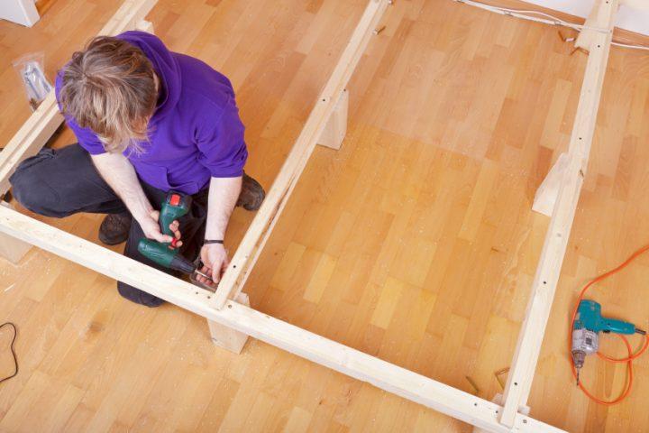 Holzbett selber bauen