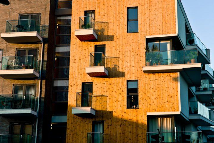Holzfassade Gebäude