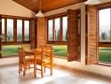 Holzfenster beim natürlichen Bauen