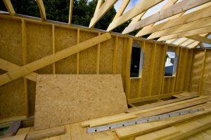 Holzständerbauweiese-Wandaufbau