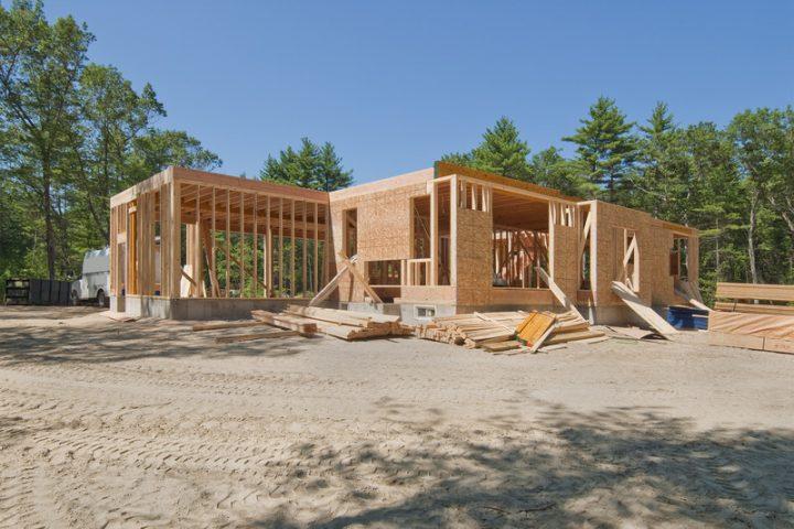 Holzständerbauweise-Fertighaus