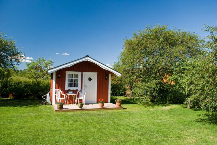 Holzständerbauweise Gartenhaus