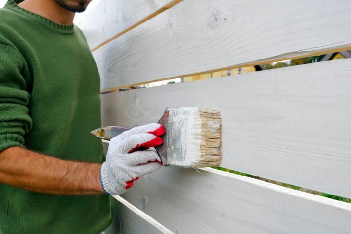Holzzaun lackieren » anleitung in 3 schritten