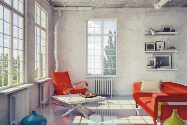 Industrieboden im Wohnbereich