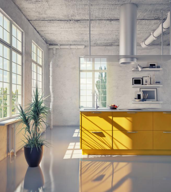 industrieboden und wohnklima wie wirkt er sich aus. Black Bedroom Furniture Sets. Home Design Ideas