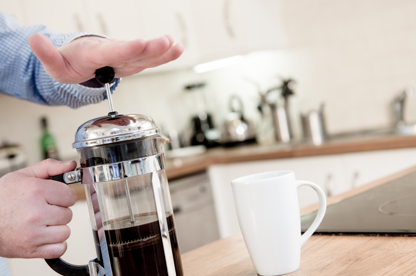 kaffeemaschine zum dr cken name anwendung mehr. Black Bedroom Furniture Sets. Home Design Ideas