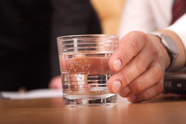 Kalk im Trinkwasser