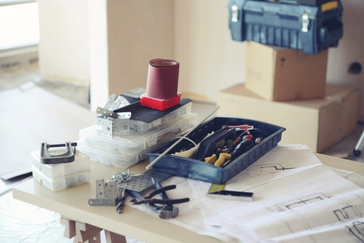 Arbeitsplatte als Tischplatte