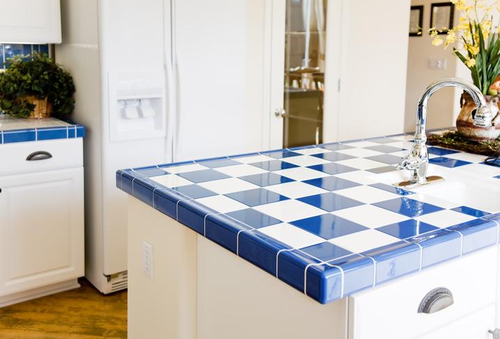 Küchenarbeitsplatte Alternative Ersatzideen - Küchenarbeitsplatte aus fliesen