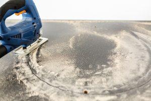 Küchenarbeitsplatte Aussparungen