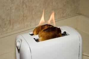 Küchenarbeitsplatte Brandloch