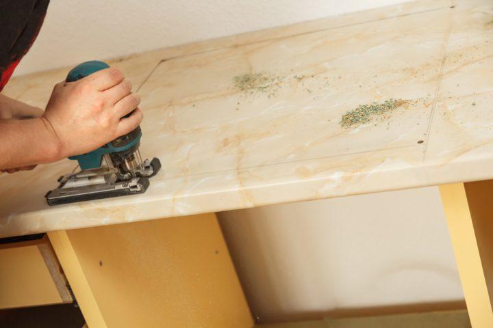 Top Küchenarbeitsplatte zuschneiden » Anleitung in 4 Schritten HH89