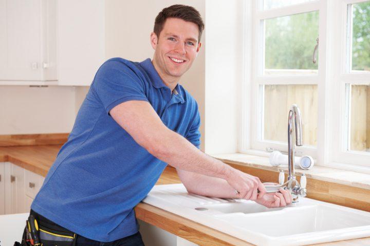 Küche Wasserhahn zerlegen