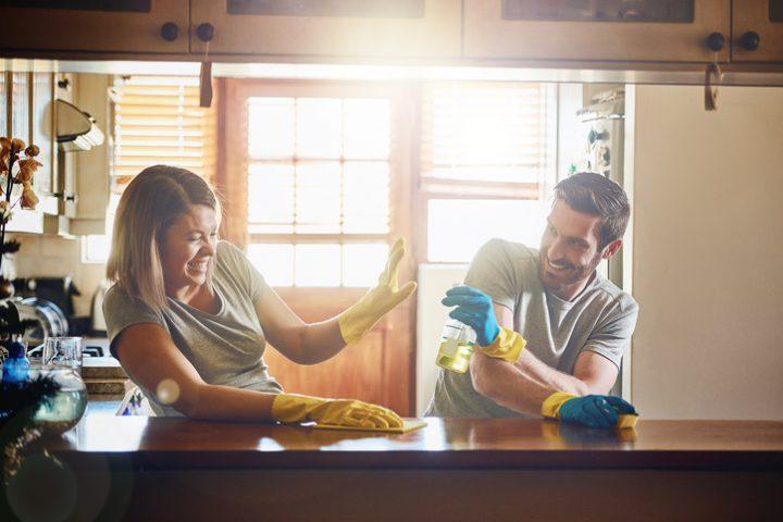 Küchenmöbel säubern