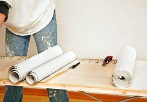 k chenschr nke tapezieren so gehen sie dabei vor. Black Bedroom Furniture Sets. Home Design Ideas