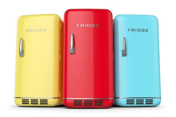 Farbiger Kühlschrank