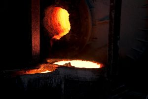 Flüssiges Kupfer