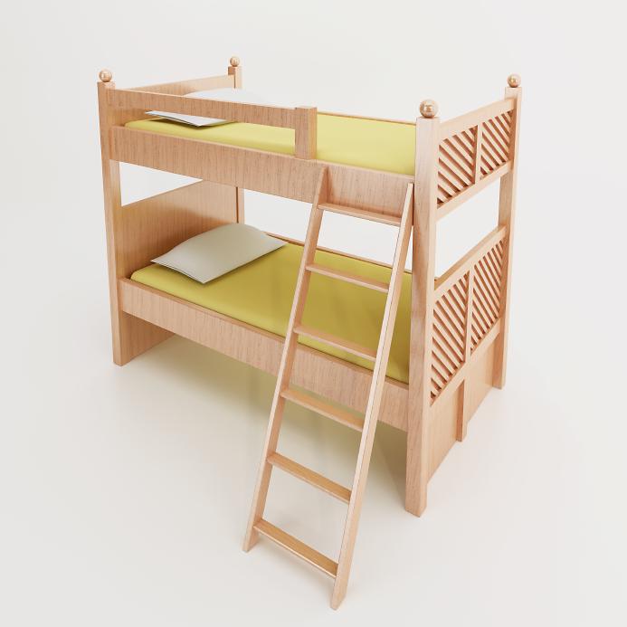 leiter f rs hochbett selbst bauen so geht 39 s. Black Bedroom Furniture Sets. Home Design Ideas
