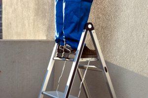 Leiter aufhängen
