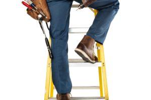 Leiter aufstellen