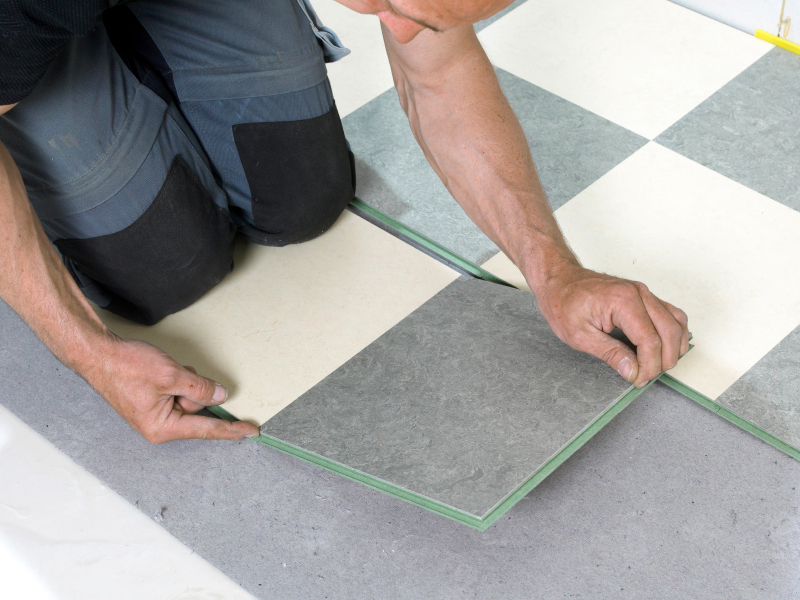 How To Lay Lino Flooring In A Bathroom