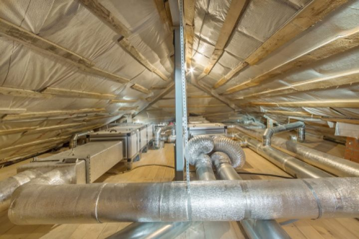 Dachboden Lüftungsanlage