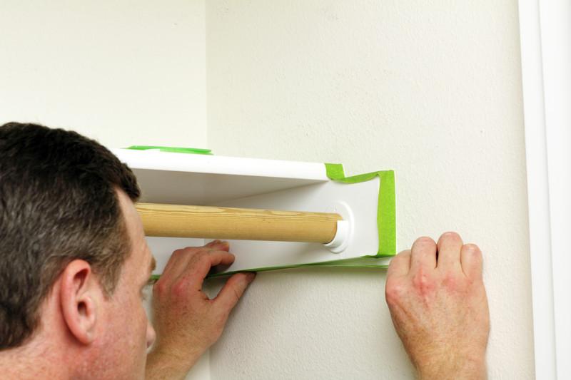 richtig abkleben beim w nde streichen so wird 39 s gemacht. Black Bedroom Furniture Sets. Home Design Ideas