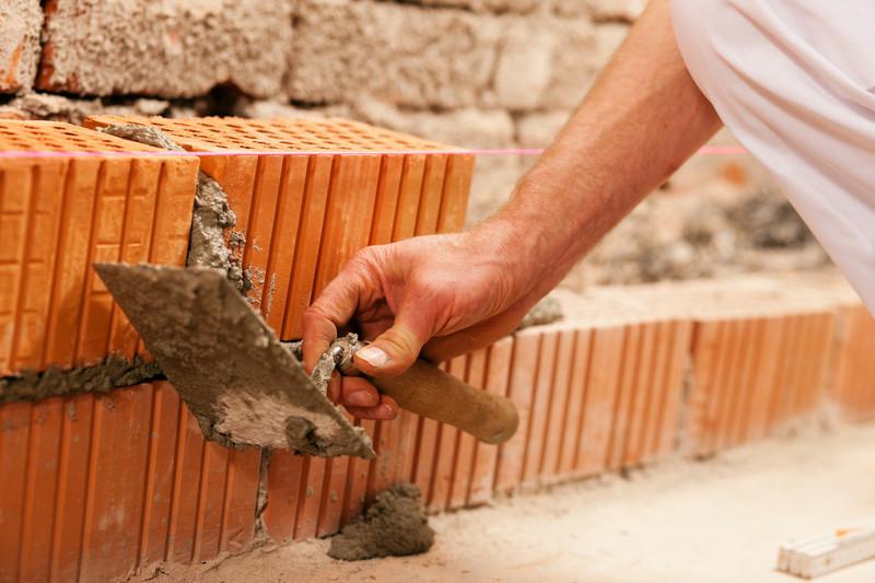 Mauer errichten
