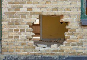 Mauer zerstört