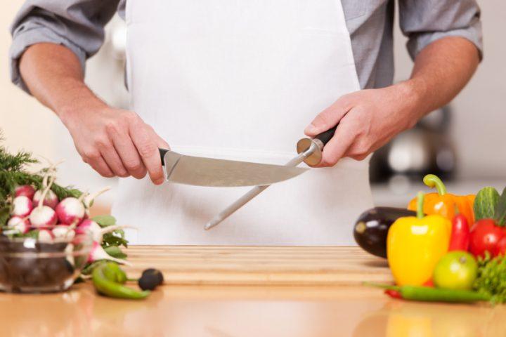 Messer schleifen Wetzstahl