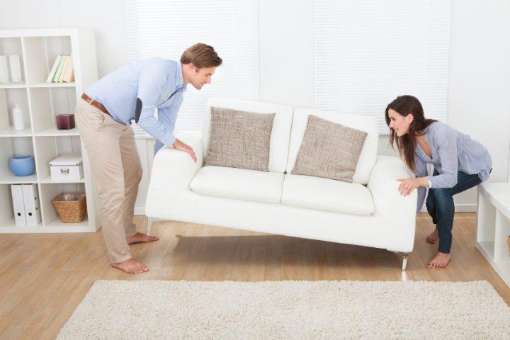 Möbel verrücken