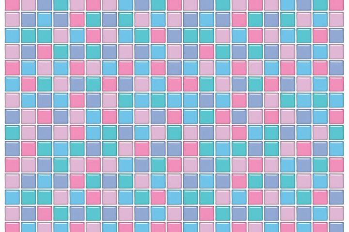 Mosaikfliesen bunt
